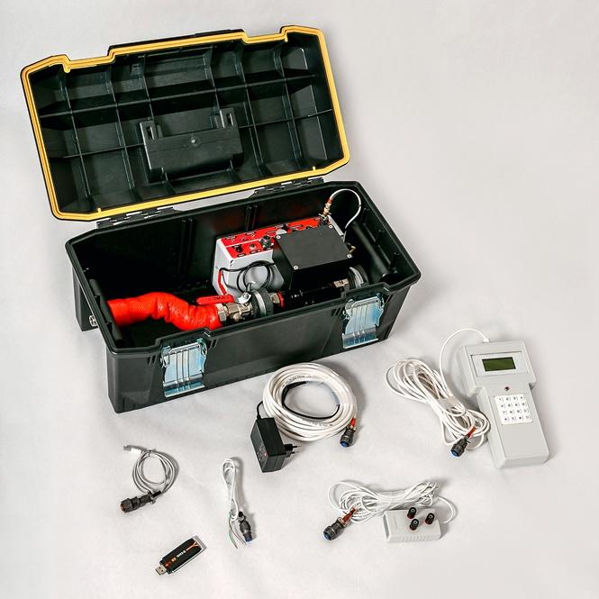Состав установки поверочной переносной НЕПТОН для счётчиков воды