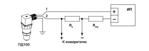Схема подключения датчиков ПД100-ДИ