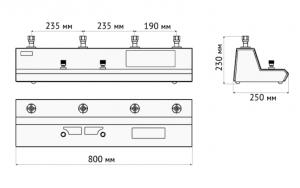 система ПСКА размеры управляющей панели