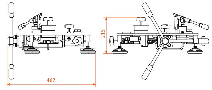 манометр грузопоршневой МП1000...МП2500 габаритные размеры