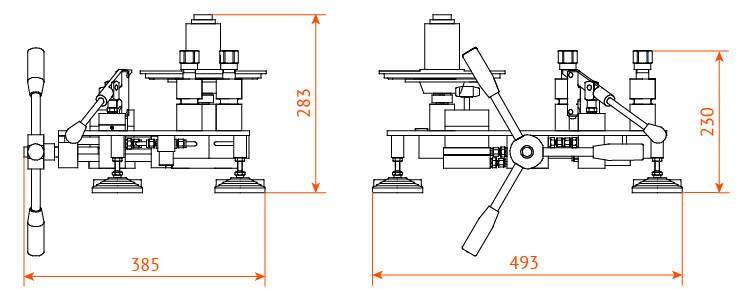 манометр грузопоршневой МП6...МП600 габаритные размеры