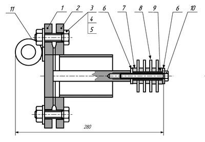 Габаритные размеры индикатора коррозии ИХЛ ИК-30
