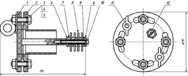 Габаритные размеры индикатора коррозии ИХЛ ИК-30М