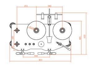 манометр грузопоршневой МП-Д-100 размеры