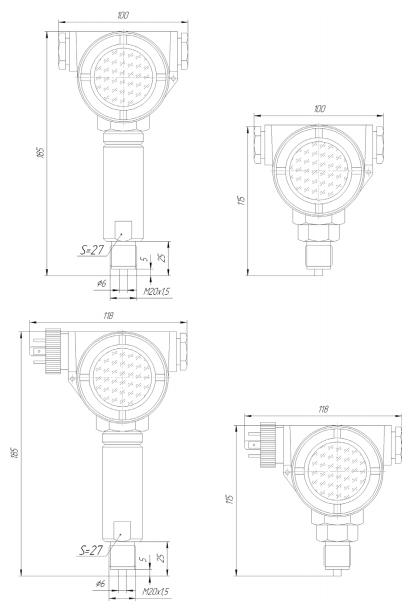 Габаритные размеры ЗОНД-10-АД-1131
