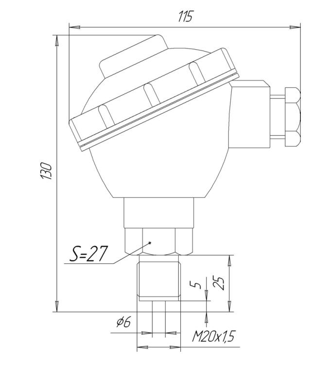 Габаритные размеры ЗОНД-10-ИД-1015