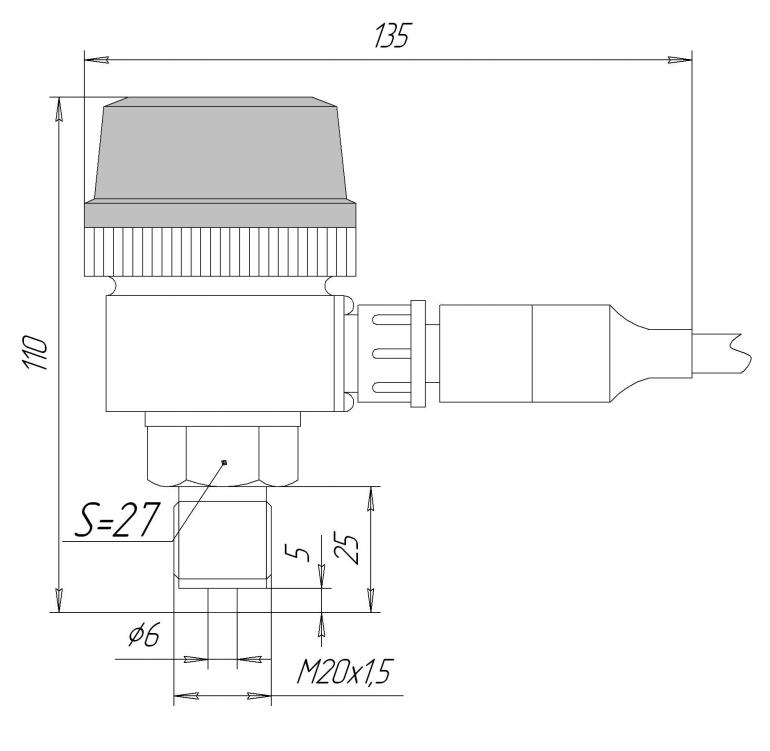 Габаритные размеГабаритные размеры ЗОНД-10-ИД-1020ры ЗОНД-10-ИД-1020