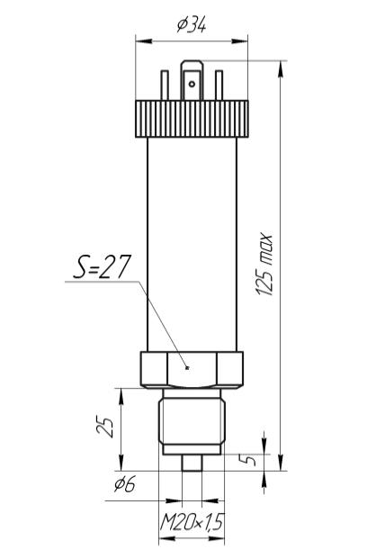 Габаритные размеры ЗОНД-10-ИД-1025