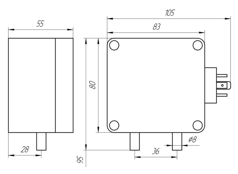 Габаритные размеры ЗОНД-10-ДД-1165