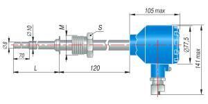 Чертёж. Термопара ДТПK-055-EXD