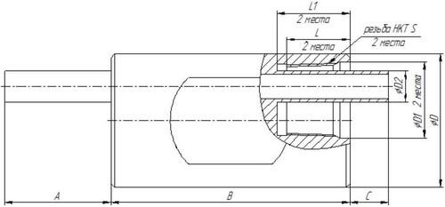 Габаритные размеры расходомера ЭМИС-ВИХРЬ-200-СКВ-Exd