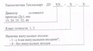 форма заказа теплосчетчика Теплосмарт