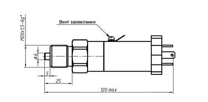 """Габаритные размеры датчиков давления СДВ-И, СДВ-Ех-И """"STANDART"""""""