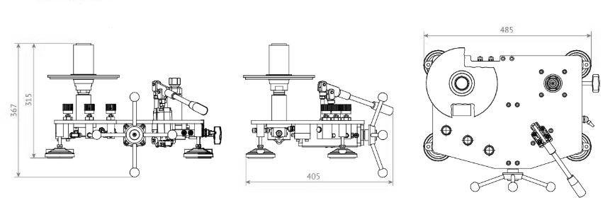 Габаритные размеры грузопоршневого манометра МГП-В