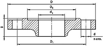 Габариты фланца 2. Разделитель РСМ-306-Dу50/Dy80 с открытой мембранной и КМЧ