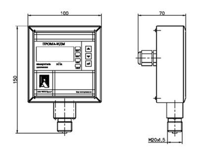 Измеритель давления ИДМ-016-Р