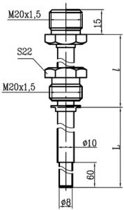 Первичный преобразователь (ПП) конструктивного исполнения А03 для термосопротивлений Метран-2000