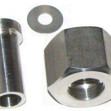 Ниппель приварной с накидной гайкой M20x1,5 или G1/2