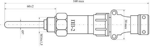 Габаритные размеры термодатчика ПП-2Н