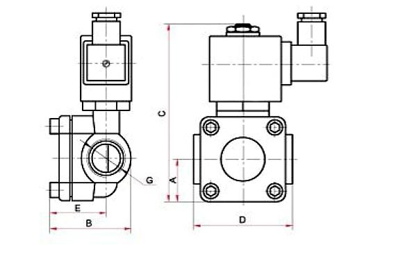 СК-11,-12-ВД, СК-21,-22-ВД электромагнитный клапан непрямого действия