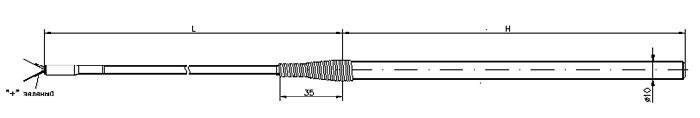 Габаритные размеры термопары ТД721