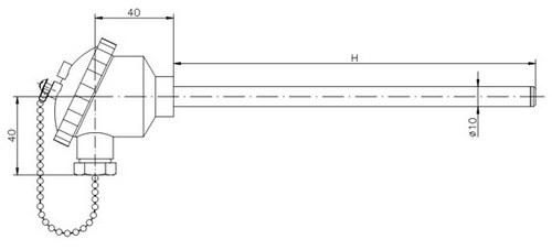 Габаритные размеры термопары ТД728