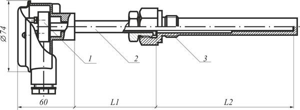 Габаритные размеры термоэлектрического преобразователя ТПК, ТПL (термопреобразователя)