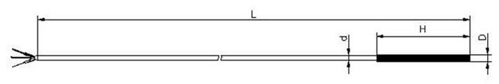 Габаритные размеры термометра сопротивления ТС713B