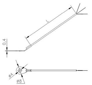 Габаритные размеры термометра сопротивления ТС742