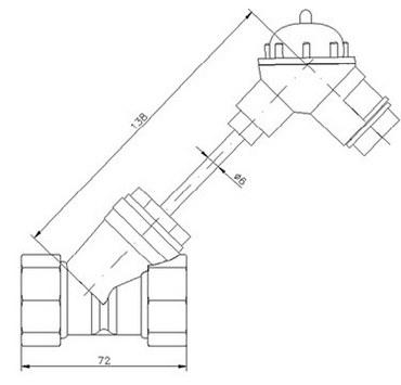 Габаритные размеры термометра сопротивления ТСП759