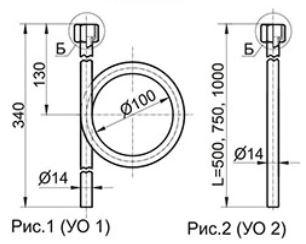Прямые отборные устройства с внутренней резьбой УО1, УО2