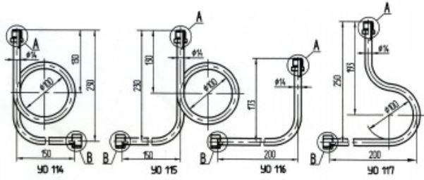 Устройства отборные с двумя гайками yo114-115-116-117