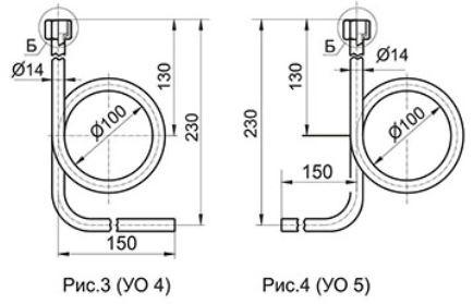 Угловые отборные устройства с внутренней резьбой УО4, УО5