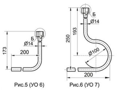 Угловые отборные устройства с внутренней резьбой УО6, УО7