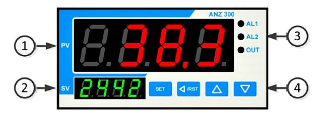 Схема. Индикатор ANZ-300