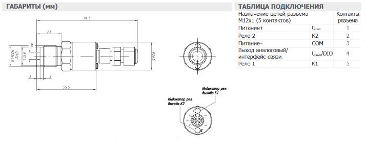 Габариты. Реле давления с pnp выходом ASZ-3420p,-3410p