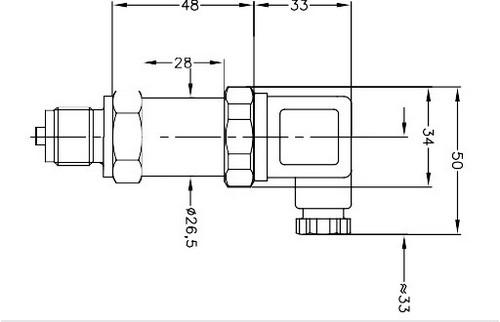 Габаритные размеры датчика давления APZ-3230