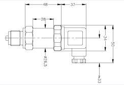 Габаритные размеры датчика давления APZ-3410