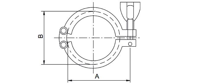 Габариты. Мембранный разделитель сред DH-S16