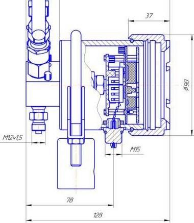 Габаритные размеры-1 преобразователя давления ПДД-РАСКО