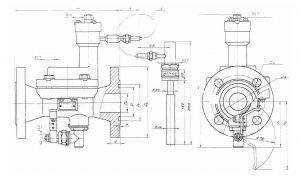 Габаритный чертеж регулятора температуры РТМ-М