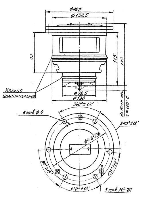 Габаритные размеры регулятора температуры РТП-70С