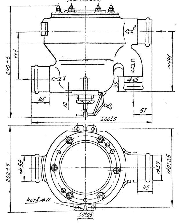 Габаритные размеры регулятора температуры РТВА-70С-50