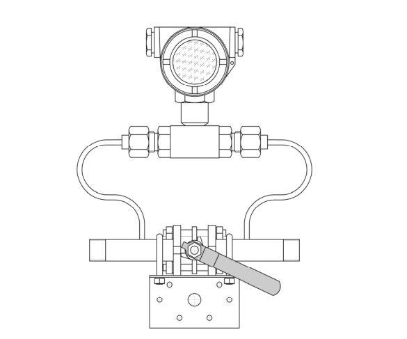 Присоединительная система с уравнительным краном для Зонд-ДД-исп.Т