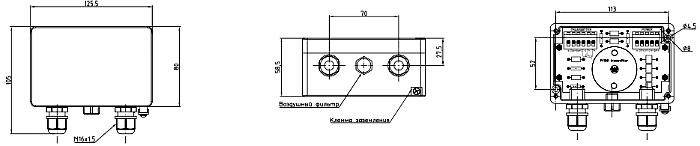 Габариты. BZ-05, BZ-10 клеммная коробка