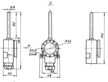 Рисунки термопреобразователя ТСП-0987-100П, ТСМ-0987-50М