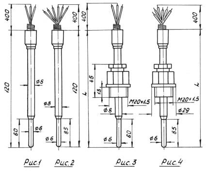 Термопреобразователь сопротивления ТСП-8052-Рис 1-4