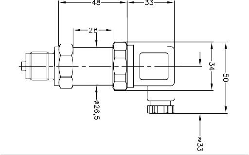 Габаритные размеры датчика давления APZ-1120
