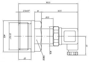 Габаритные размеры датчика давления APZ-3240-HART