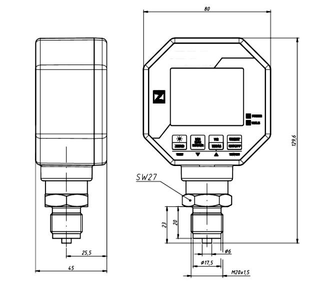 Габариты. Электронный манометра APZ 3420G высокоточный